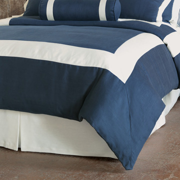 BREEZE INDIGO/SHELL DUVET COVER (Q)