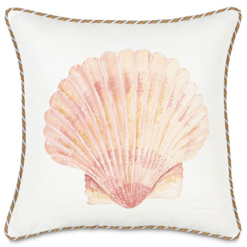 HAND-PAINTED SCALLOP SHELL