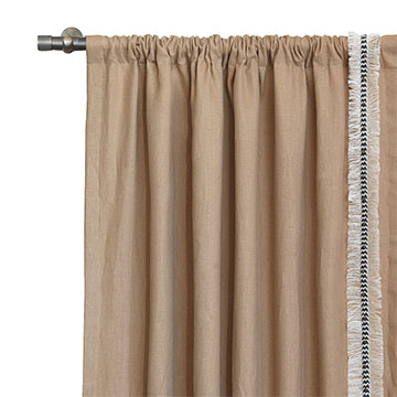 BREEZE SAND CURTAIN PANEL LEFT