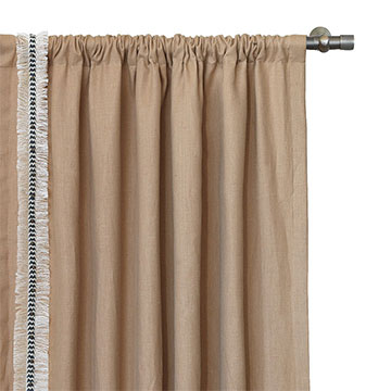 BREEZE SAND CURTAIN PANEL RIGHT