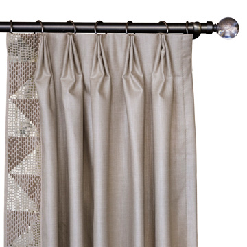 TERYN SEQUINED CURTAIN PANEL (RIGHT