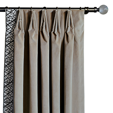 MADDOX VELVET CURTAIN PANEL