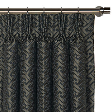 ROSCOE GRAPHITE CURTAIN PANEL