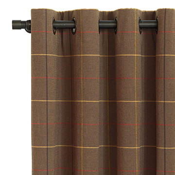 DONOGHUE BROWN CURTAIN PANEL