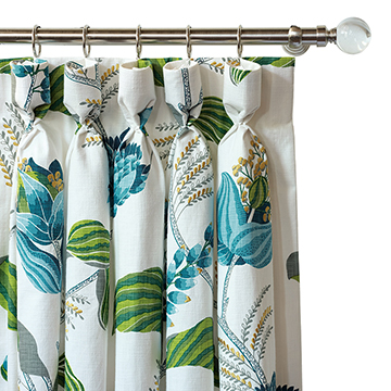 CLEMENTINE EMBROIDERED CURTAIN PANE