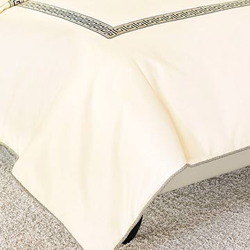 FOLLY PARCHMENT DUVET COVER (Q)