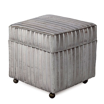 GAIA STERLING STORAGE BOXED OTTOMAN