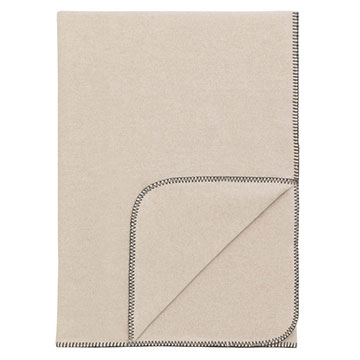 BRERA THROW/GREY BLANKET STITCH